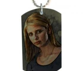 BUFFY VAMPIRE SLAYER Dog Tag Necklace