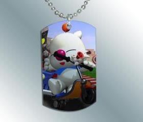 FINAL FANTASY MOOGLE Dog Tag Charm Necklace