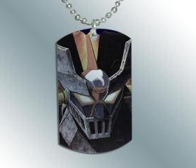 MAZINGER-Z Dog Tag Charm Necklace